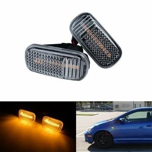 2Pcs Car Lens LED Side Marker Turn Signal Indicator Light for Honda Civic Accord Acura RSX 34301-S5A-013