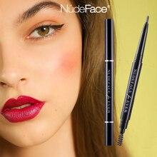 Eyebrow Pencil cosmetics make up Natural Long Lasting Waterproof Paint Tattoo Black Brown Eyebrow Pencil brush Women Makeup