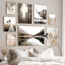 Autumn Scenery Poster Home Decor Nordic Canvas Art Painting Nature Grass Landscape Picture Wall Art Print for Living Room Design