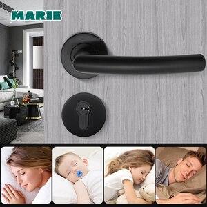 Image 5 - LH1007 Black Color Stainless Steel Half Dummy Door Knob For Interior Door Lever Brushed Nickel Door Handle