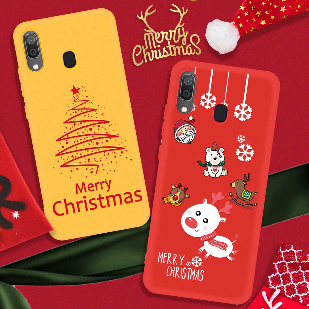 Merry Christmas Phone Case For Samsung Galaxy A70 A50 A40 A30 A20 A10 A7 2018 2020 New Year Cover on A 50 70 20 Elk Coque Bumper