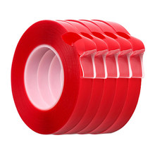 3M Car Stickers Super Fix Red Double Sided Protective Self Adhesive Tape Acrylic Transparent No Traces Auto Exterior Fixed(China)