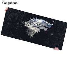 Congsipad Game of Thrones 90*40cm Pictures DIY Grande Large Mouse Pad Gamer Gaming Keyboard Mat Computer Tablet Mouse Pad(China)