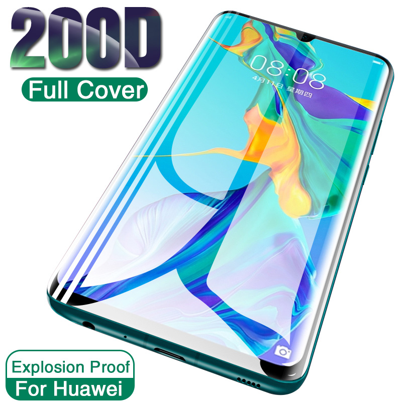 200D Tempered Glass For Huawei P30 P20 Pro Lite Honor 20 10i Screen Protector On Protective Glass For Huawei Mate 20 Lite Glass