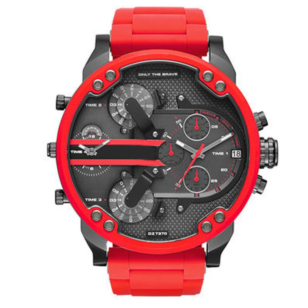 Men's Watch Fashion Personality Big Dial Trend Watch Stainless Steel With Quartz Watch Business Watch