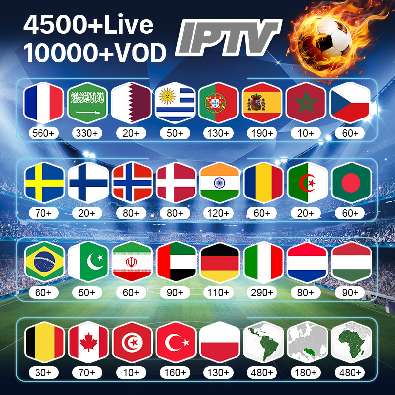 IPTV France Germany Arabic Belgium Spain IPTV Subscription M3U Android Code IPTV Netherlands Italy Portugal Sweden Greek IP TV-in Set-top Boxes from Consumer Electronics