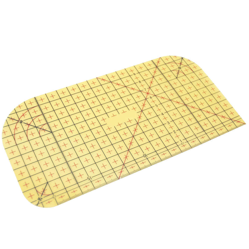 Durable Home Measuring Tool Yellow Resin Scrapbook DIY Craft Portable Quilting Patchwork Tailor Ironing Ruler Sewing Supplies