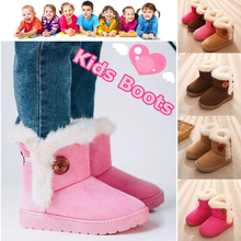 2019 Warm Kids Snow Boots For Children New Toddler Winter Princess Child Shoes Non-slip Flat Round Toe Girls Baby Lovely
