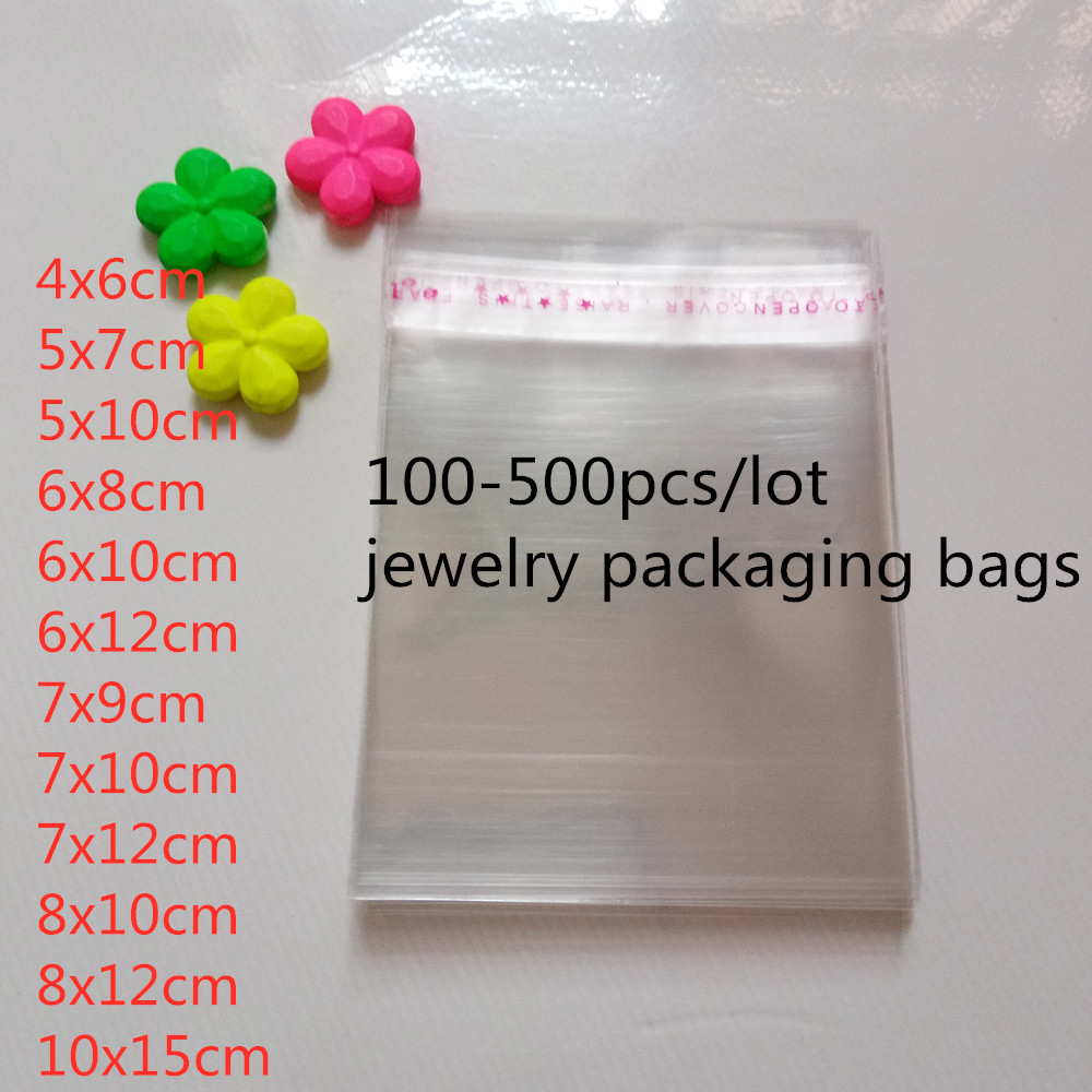 500pcs Opp Bag Self Adhesive Clear Transparent Bags For Women/cloth/gift/Jewelry Pouches Small Plastic Bags Display Packing Bag