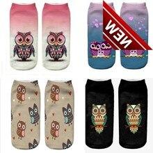1pair Hot Sale Kids 3d Animal Short Ankle Girls Socks Printed Owl Sokken Skarpetki Dla Dzieci Baby Girl Clothes Sock Skarpety
