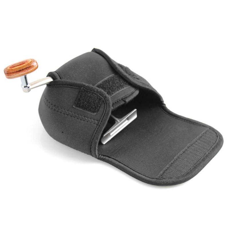 1Pc ספינינג דיג סליל תיק נייד שחור מגן מקרה כיסוי פאוץ מחזיק נייד דיג תיק פאוץ להתמודד