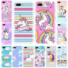 Custodia in Silicone Per Huawei Honor 7 8 9 10 LITE Molle di TPU Carino Arcobaleno Unicorn Cover Per Honor 8X MAX 10 9 8 7 7S 7X 7A 7C Pro(China)