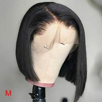 HD прозрачный Синтетические волосы на кружеве человеческих волос парики короткие Боб 13x6 бразильские прямые волосы Синтетические волосы на ...