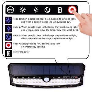 Image 5 - USB akumulator PIR Motion reflektory LED Motion lampa słoneczna zewnętrzna kinkiet Home Garden Yard chodnik bezpieczeństwo światła uliczne