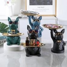 Home Room Decor,Figurine,Cool Bulldog,Sculpture,Table Decoration,Modern,Multifunction,Desk Storage,Statue,Decorative,Coin Bank
