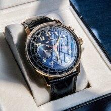 Reef montre à bracelet en cuir véritable pour hommes, montre daffaires lumineuse et automatique, étanche, RGA9122