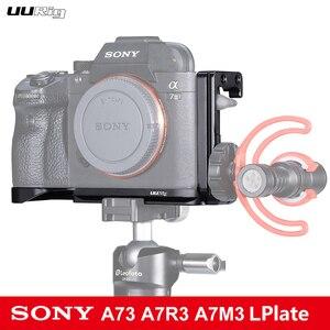 Image 5 - UURig C A7III מצלמה כלוב עבור Sony A73 A7R3 A7M3 סטנדרטי Arca שחרור מהיר צלחת W למעלה ידית אחיזה קר נעל הר DSRL מצלמה