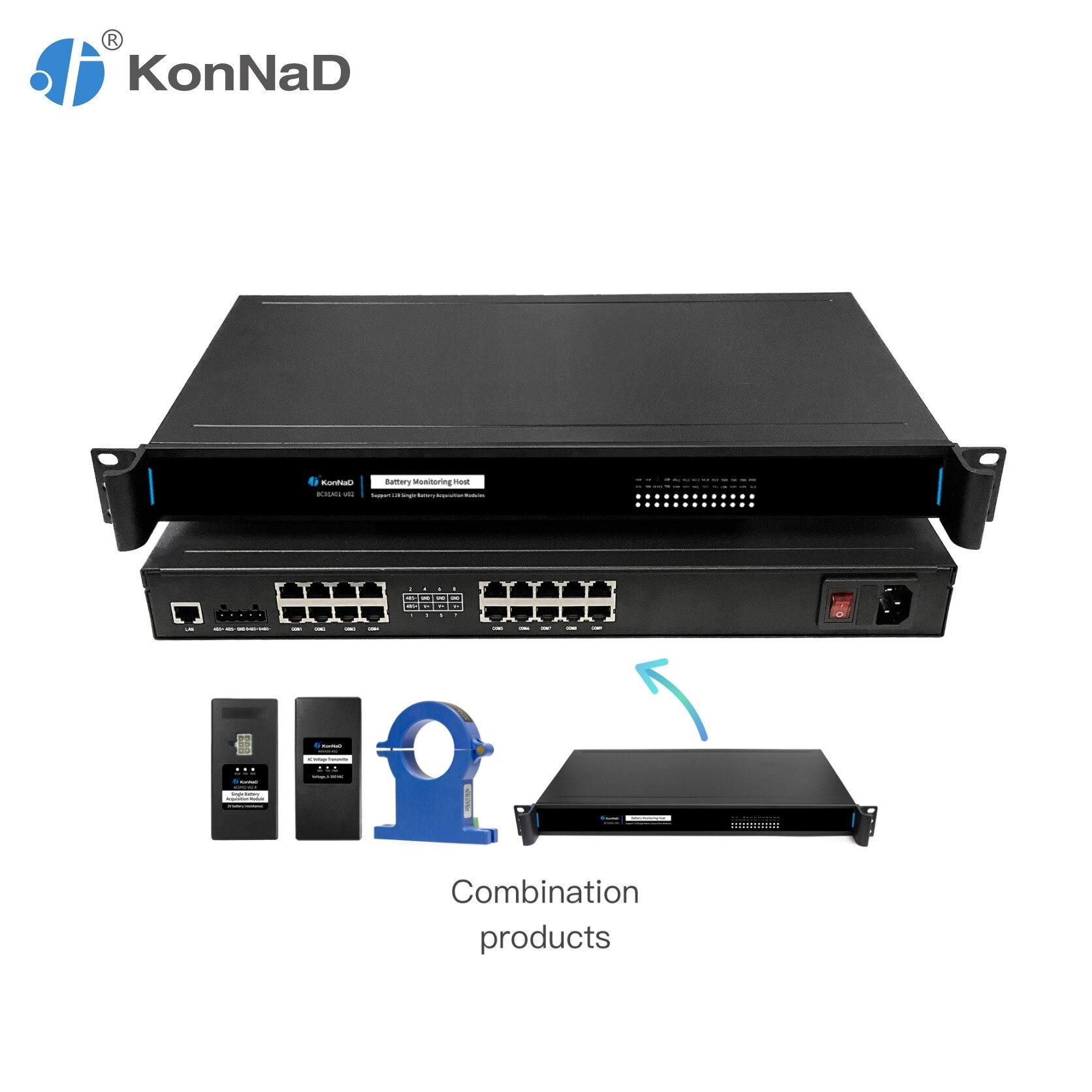 Battery Monitoring Host Support 128 Single Battery Module Dual Power Supply Modbus TCP/RTU KonNaD