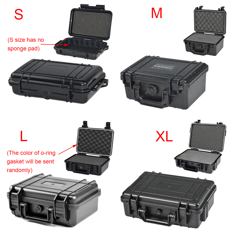 Waterproof Safety Box ABS Plastic Tool Case Outdoor Tactical Dry Box Sealed Safety Equipment Storage Outdoor Tool Container
