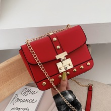 new Woman Bags Luxury Handbags Women Messenger Bags Cover Rivet Bag Girls Fashion Shoulder Bag Ladies PU Leather Handbag red 2018 new products women bag split leather fashion smile bag shoulder bags messenger bags woman handbags trapeze bags