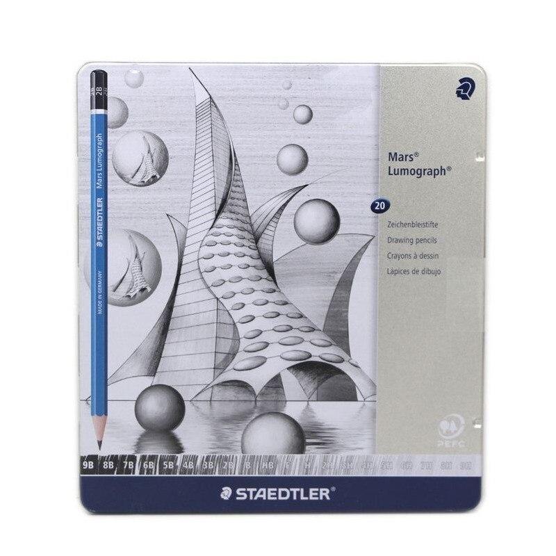 kresba tužkou mars - Drawing pencils Mars Lumograph 100 Premium quality pencil; 6 pcs /set ,12 pcs /set, 20 pcs full set