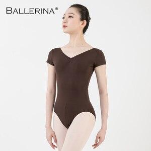 Image 3 - Balletto body donne Dancewear Professionale di formazione di yoga sexy ginnastica croce aperto indietro Body Ballerina 3551
