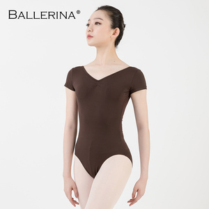 Image 3 - バレエレオタード女性ダンスウェア専門的な訓練yogaセクシーな体操クロスオープンバックレオタードバレリーナ 3551