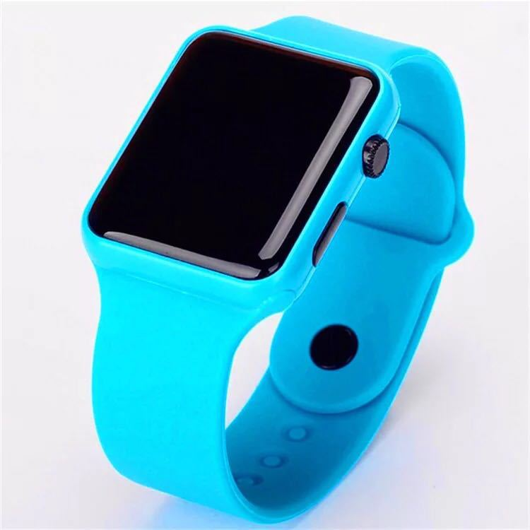 Apple LED Watch Lovers Couple Kitty Wristwatch Men's Women's Hello Cute LED Digital Electronic Boys Girls Kids Watch Student