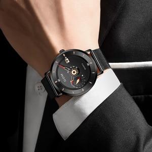 Image 2 - DOM Herren Uhren Zu Luxus Marke Männer Stahl Sport Uhren herren Quarz Schwarz Uhr Wasserdicht Militär Uhr Uhr M 1299BK 1M
