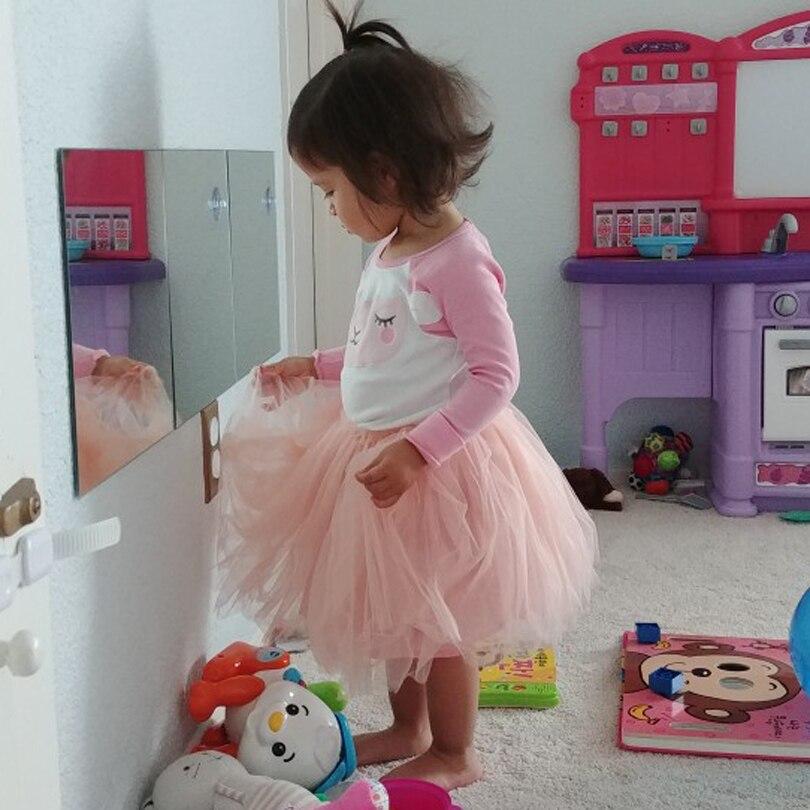 Купить с кэшбэком Baby Girl Clothes Christmas Pink Tutu Skirt Kids Princess Girls Skirt Ball Gown Pettiskirt Birthday Party Kawaii Skirts 0-4Y NEW