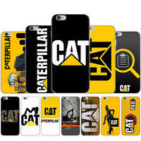 Funda de plástico duro con logo de Caterpillar para iphone 5, 5s, 5C, SE, 2020, 6, 6s, 7, 8 plus, X, XR, XS, 11 Pro Max