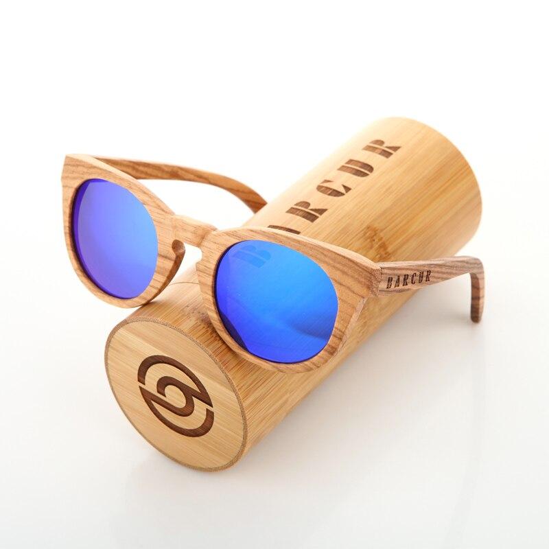 Мужские и женские солнцезащитные очки BARCUR, поляризационные солнцезащитные очки под дерево, с защитой UV400, для вождения автомобиля