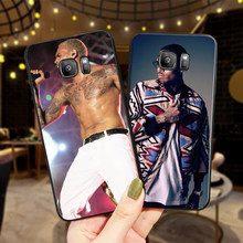 Chris Brown Breezy Case For Samsung S6 S7 EDGE S8 S9 PLUS Soft Silicone Cover S10 NOTE 8 9 M10 M20 M30 Coque Funda(China)