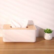 Простая модная домашняя кухонная коробка для хранения салфеток, деревянная коробка для салфеток, съемный контейнер, органайзер, бумажная коробка для салфеток в рулоне