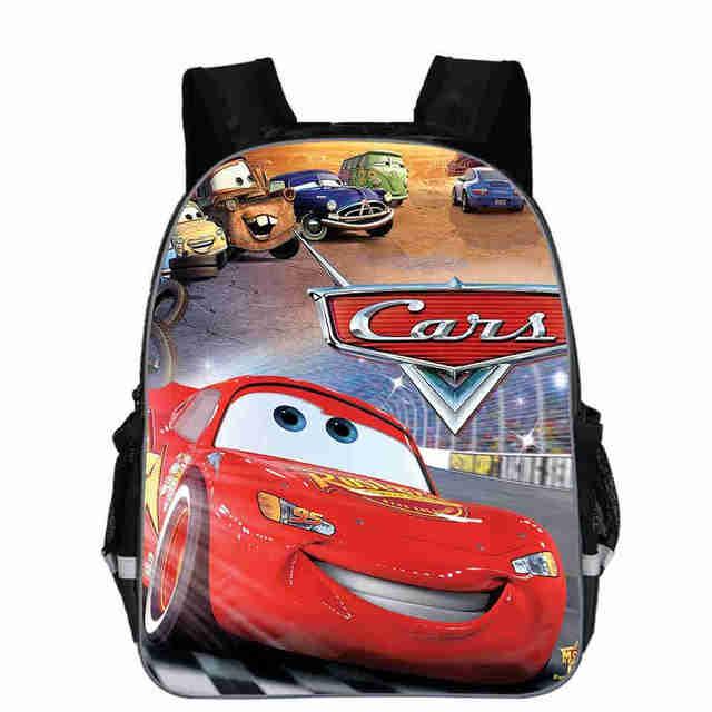 Disney 95 Cars Schoolbag Cool 3D Printing Small Backpack Kindergarten Baby Boys School bags Kids Bookbag