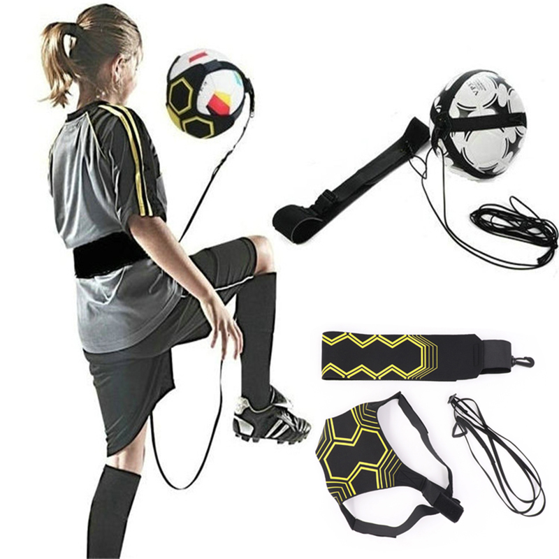 1pcs Football Kick Solo Trainer Belt Adjustable Swing Bandage Control Soccer Training Aid Equipment Football Accessories