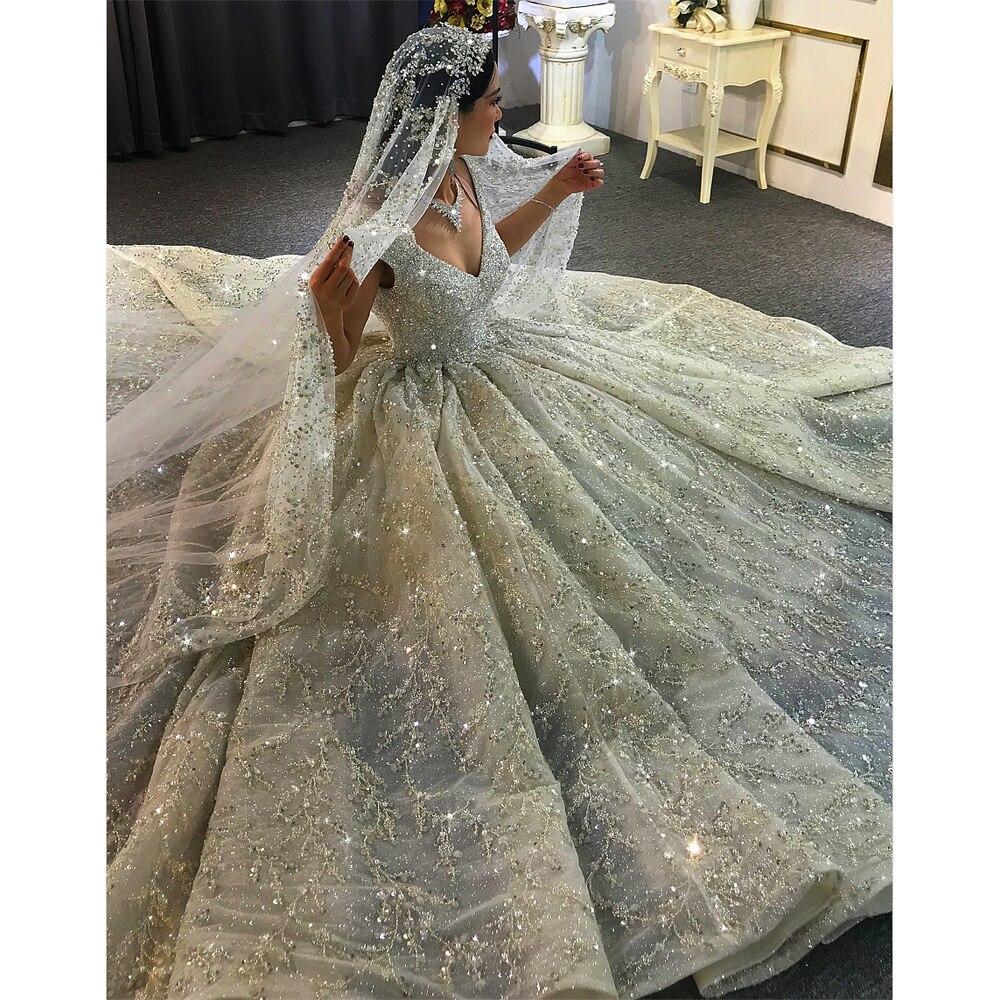 18 Heavy beading luxury wedding dress wedding gown bridal dress