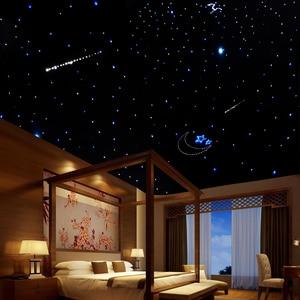 Image 5 - 16w rgbw twinkle inteligente bluetooth app kit de teto estrela de fibra óptica misturada 335/430 pces *(0.75 + 1.0 + 1.5mm) com efeito de meteoro tiro