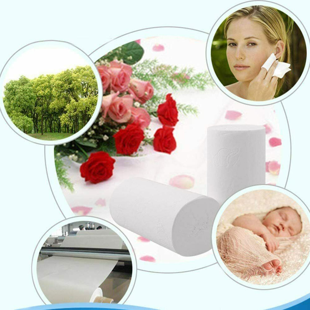 Home Hotel Restaurant Bathroom Washroom Soft Tissue Roll Wood Pulp Paper Toilet Paper Roll