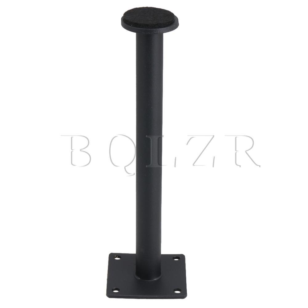 BQLZR Matte Black Premium Round Furniture Feet for Sofa Cabinet 60x210mm