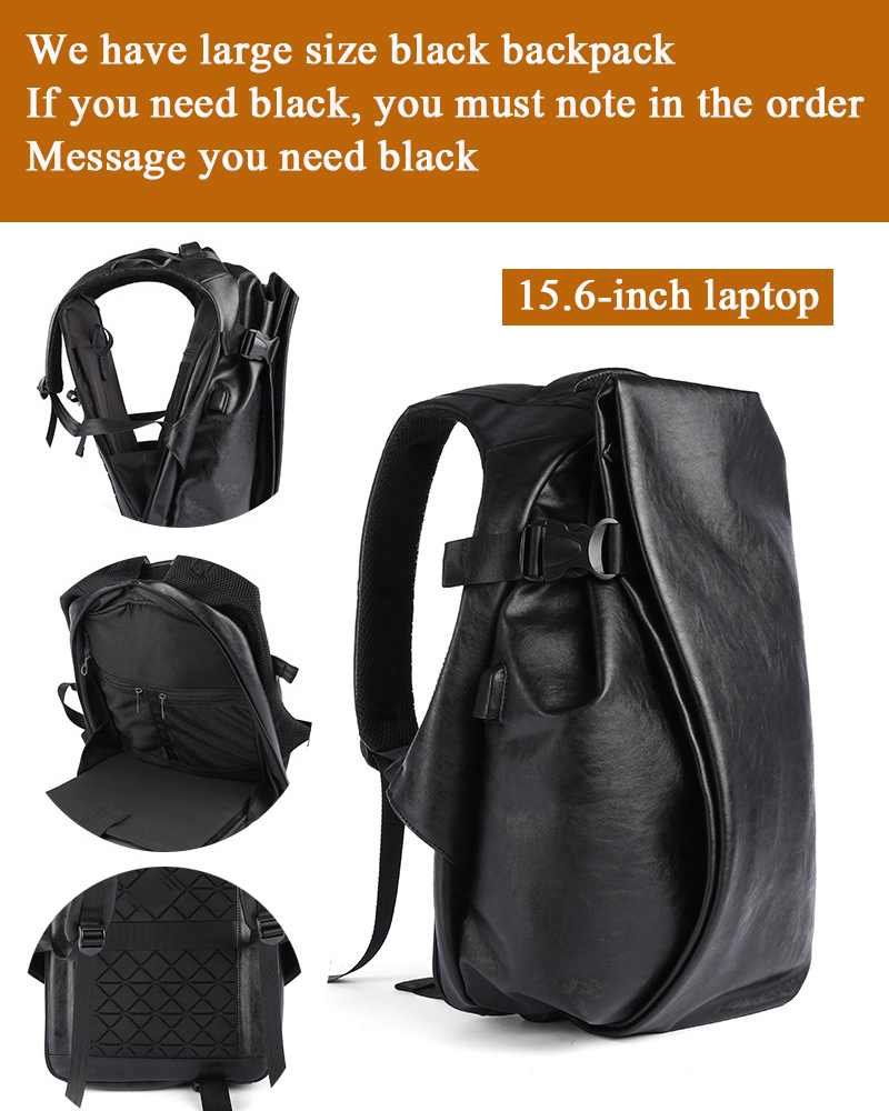 H81b2b3bc27e942ed9b8072e1545e1ff2g - DIDE Male Backpack USB Charge Waterproof 15.6 inch Laptop Backpack Leather Travel Casual Vintage School Bag For Men Black