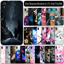 Case For Xiaomi Redmi 6A 7A 8A 7 6 Case Silicone Phone Cover For Xiaomi Redmi 7A Case Cover Coque Funda For Xiaomi Redmi 8A Case redmi 6a case etui xiaomi redmi 6 6a 7 7a kawaii silicone cover case for funda xiaomi redmi k20 xiomi f1 phone case stand holder