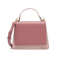 цена на Female Fashion Crossbody Bags for Women 2020 Handbags High Quality Designer Top Handle Bag Girls Color Block Pink Shoulder Purse