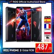 ROM Global versión ASUS ROG teléfono 3 512GB 12GB SD865 + 6000mAh batería de la batería 144Hz AMOLED FHD 64MP Triple cámaras ROG3 5G juego teléfono