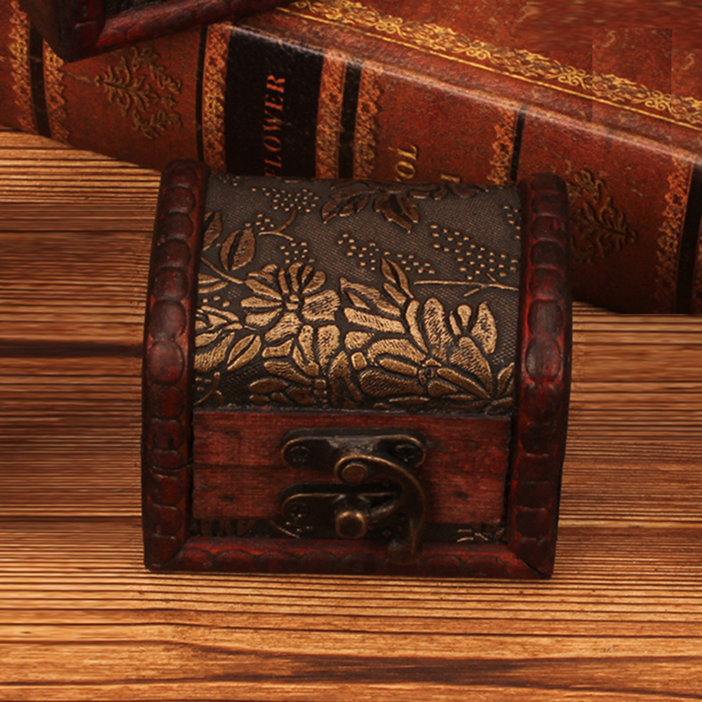 Wooden jewelry box Organizer with Antique Golden Lock New in Box