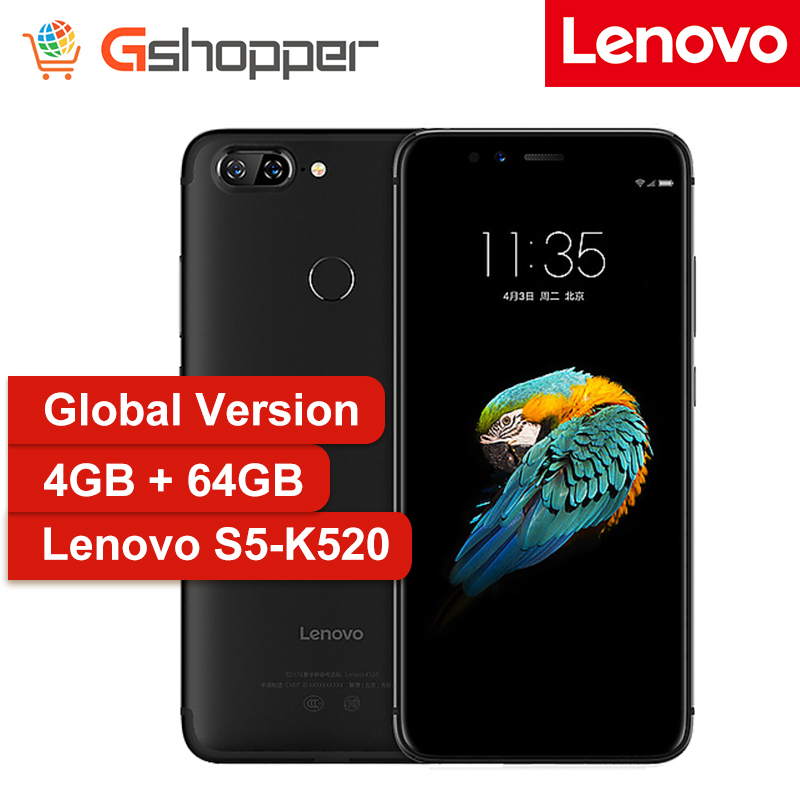 Versión Global Lenovo S5 K520 Smartphone 4GB RAM 64GB ROM Snapdragon 625 Octa Core teléfono móvil 5,7