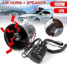 Universal Auto Horn Lautsprecher Polizei Sirene Air Horn Megaphon 100W 12V 6 Ton Sirene Horn Lautsprecher Für Motorrad lkw Van Boot