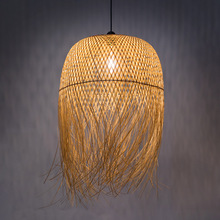 Chinese Pendant Lights Bamboo Master Bedroom Decor Art Hanglamp Living Room Home Loft Reading Study Dining Light Fixtures