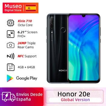 Купить Глобальная версия Honor 20e 20 e мобильный телефон Kirin 710 Восьмиядерный 6,21 ''4 Гб 64 Гб 24 МП тройные камеры смартфон Google Play