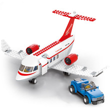City Plane Series International Airport Airbus Aircraft Airplane Legoingly Building Blocks Sets Figures Bricks Toys for Children
